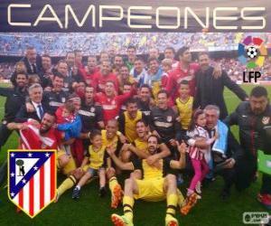 puzzel Atlético Madrid, kampioen van de Spaanse voetbalcompetitie 2013-2014