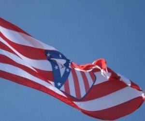 puzzel Atlético Madrid vlag