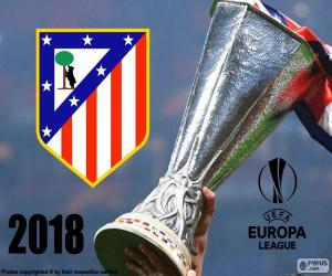 puzzel Atl. Madrid, Europa League, 2018