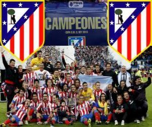 puzzel Atl. Madrid kampioen Copa del Rey 2012-2013