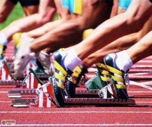 puzzel Atleten bereiden voor uitvoer