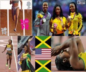 puzzel Atletiek 100 m vrouwen Londen 2012