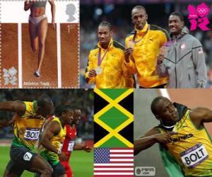 puzzel Atletiek-Mannen, 100 meter Londen 2012
