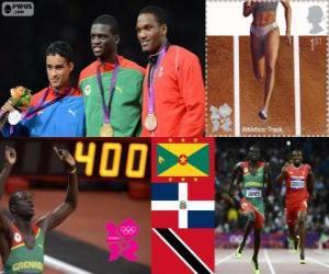 puzzel Atletiek-Mannen 400 m Londen 2012