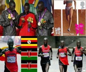 puzzel Atletiek-Mannen marathon Londen 2012
