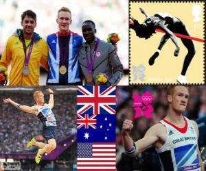 puzzel Atletiek-Mannen verspringen Londen 2012