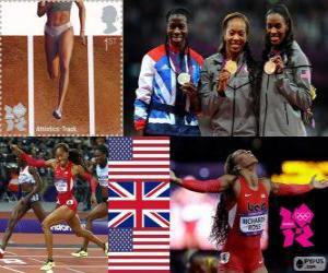 puzzel Atletiek Vrouwen 400 m Londen 2012