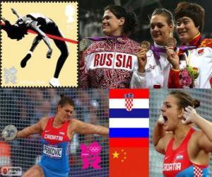 puzzel Atletiek-vrouwen discuswerpen Londen 2012