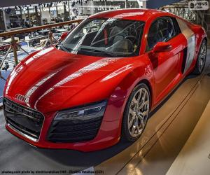 puzzel Audi R8 rood