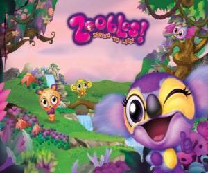 puzzel Azoozia waar de feestbeesten onder de Zoobles wonen