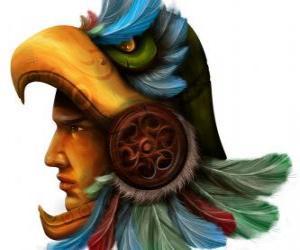 puzzel Azteekse krijger