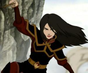puzzel Azula is de prinses van de Vuurnatie en de jongere zus van Zuko