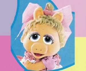 puzzel Baby Piggy, de Muppet baby Miss Piggy