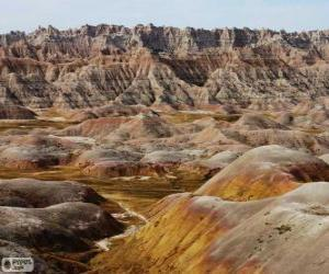 puzzel Badlands National Park, Verenigde Staten