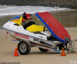 puzzel Badmeester water scooter