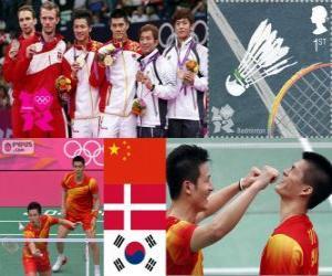 puzzel Badminton mannen verdubbelt Londen 2012