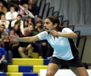 puzzel Badmintonspeelster