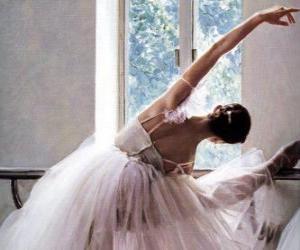 puzzel Ballerina oefenen met de bar