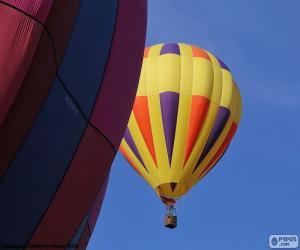 puzzel Ballon gebakken lucht geel