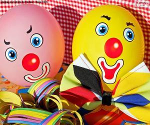 puzzel Ballonnen clown