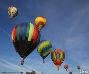 puzzel Ballonnen in de lucht