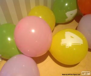 puzzel Ballonnen met getallen