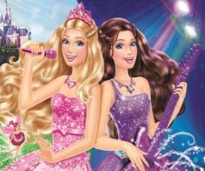 puzzel Barbie: De prinses en de Popstar