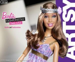 puzzel Barbie Fashionista Artsy