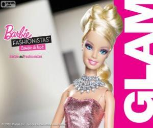 puzzel Barbie Fashionista Glam