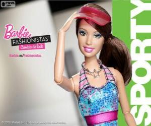 puzzel Barbie Fashionista Sporty