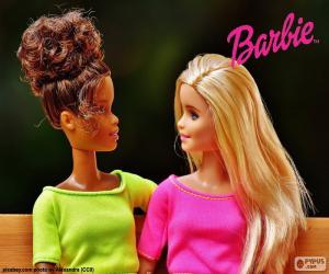 puzzel Barbie met een vriend
