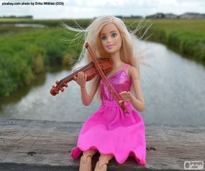 puzzel Barbie spelen van de viool