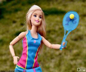 puzzel Barbie tennissen
