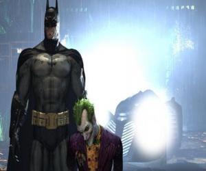 puzzel Batman gearresteerd zijn vijand de Joker