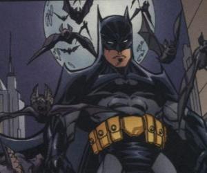 puzzel Batman met zijn vrienden, de vleermuizen