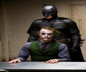 puzzel Batman ondervragen zijn vijand de Joker
