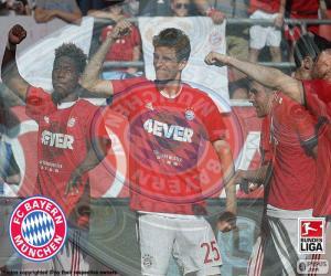 puzzel Bayern Múnich, kampioen 2015-2016