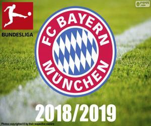 puzzel Bayern München, kampioen 2018-2019
