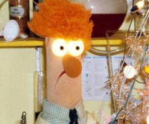 puzzel Beaker bezig met een experiment in het laboratorium van de Muppets