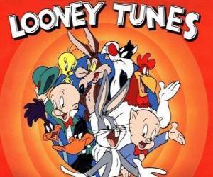 puzzel belangrijkste karakters van Looney Tunes