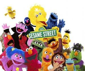 puzzel Belangrijkste karakters van Sesamstraat