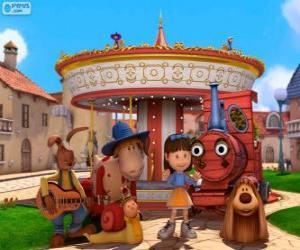 puzzel Belangrijkste karakters van de film Dougal - The Magic Roundabout