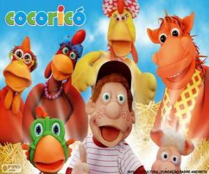 puzzel Belangrijkste personages van boerderij Cocorico