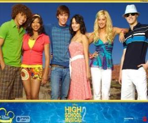 puzzel Belangrijkste personages van High School Musical 2