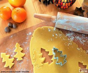 puzzel Bereiden van cookie kerst