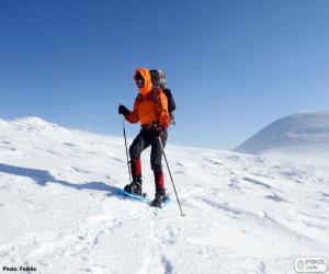 puzzel Bergbeklimmer tijdens een oversteek