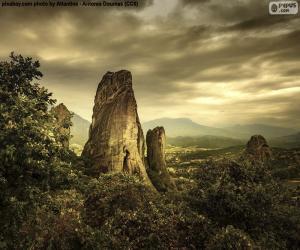 puzzel Bergen van Meteora, Griekenland