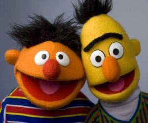 puzzel Bert en Ernie, twee grote vrienden