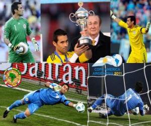 puzzel Beste doelman Justo Villar Copa America 2011
