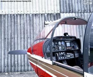 puzzel Besturingselementen van een lichte vliegtuigen